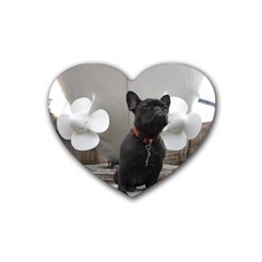 French Bulldog Drink Coasters 4 Pack (Heart)