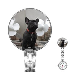 French Bulldog Stainless Steel Nurses Watch