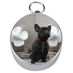 French Bulldog Silver Compass