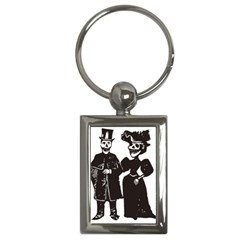 Day Of The Dead Key Chain (Rectangle)