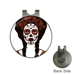 Day Of The Dead Hat Clip with Golf Ball Marker