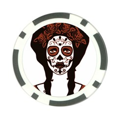 Day Of The Dead Poker Chip (10 Pack)
