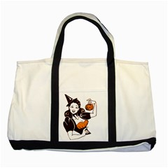 Halloween Pin Up Two Toned Tote Bag