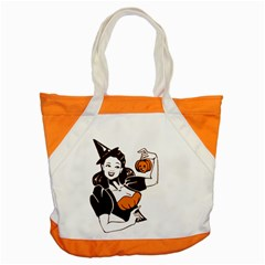 Halloween Pin Up Accent Tote Bag