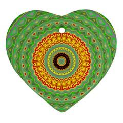Mandala Heart Ornament