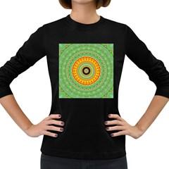 Mandala Women s Long Sleeve T Shirt (dark Colored)