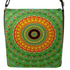 Mandala Flap Closure Messenger Bag (Small)
