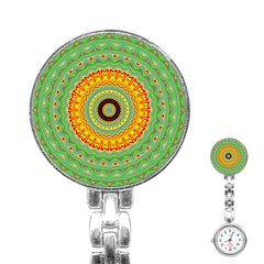 Mandala Stainless Steel Nurses Watch