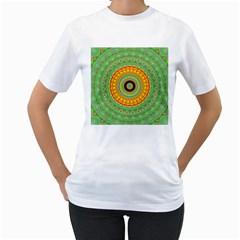 Mandala Women s T-Shirt (White)