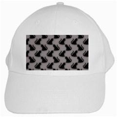 Black Cats On Gray White Baseball Cap