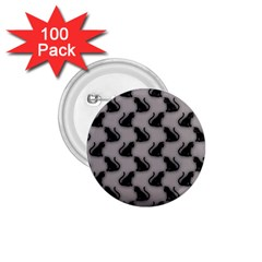 Black Cats on Gray 1.75  Button (100 pack)