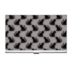 Black Cats On Gray Business Card Holder