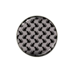 Black Cats on Gray Golf Ball Marker 4 Pack (for Hat Clip)