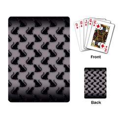 Black Cats On Gray Playing Cards Single Design