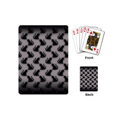 Black Cats on Gray Playing Cards (Mini)