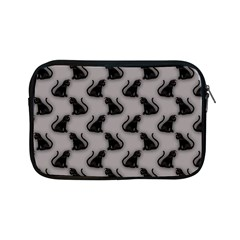 Black Cats On Gray Apple Ipad Mini Zippered Sleeve