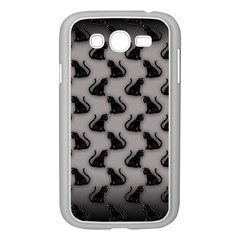 Black Cats On Gray Samsung Galaxy Grand Duos I9082 Case (white)