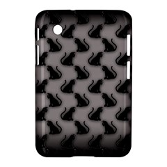 Black Cats On Gray Samsung Galaxy Tab 2 (7 ) P3100 Hardshell Case