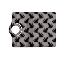 Black Cats on Gray Kindle Fire HD 7  (2nd Gen) Flip 360 Case