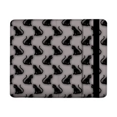 Black Cats On Gray Samsung Galaxy Tab Pro 8 4  Flip Case