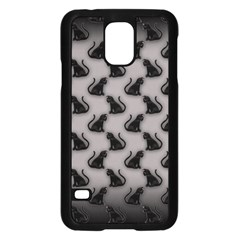 Black Cats on Gray Samsung Galaxy S5 Case (Black)