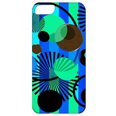Blue Green Stripes Dots Apple Iphone 5 Classic Hardshell Case