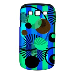 Blue Green Stripes Dots Samsung Galaxy S III Classic Hardshell Case (PC+Silicone)