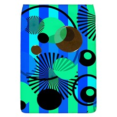 Blue Green Stripes Dots Removable Flap Cover (Large)