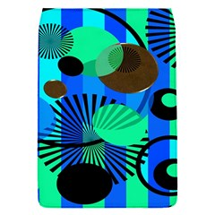 Blue Green Stripes Dots Removable Flap Cover (small)