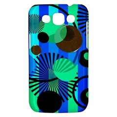 Blue Green Stripes Dots Samsung Galaxy Win I8550 Hardshell Case