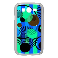 Blue Green Stripes Dots Samsung Galaxy Grand DUOS I9082 Case (White)