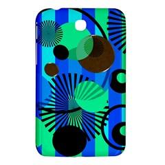 Blue Green Stripes Dots Samsung Galaxy Tab 3 (7 ) P3200 Hardshell Case