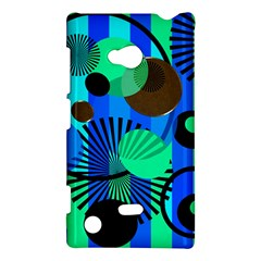 Blue Green Stripes Dots Nokia Lumia 720 Hardshell Case