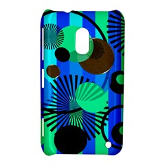 Blue Green Stripes Dots Nokia Lumia 620 Hardshell Case