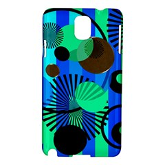 Blue Green Stripes Dots Samsung Galaxy Note 3 N9005 Hardshell Case