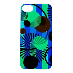Blue Green Stripes Dots Apple Iphone 5s Hardshell Case