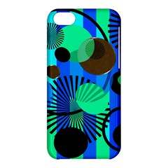 Blue Green Stripes Dots Apple Iphone 5c Hardshell Case