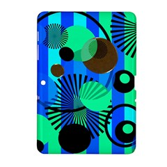 Blue Green Stripes Dots Samsung Galaxy Tab 2 (10 1 ) P5100 Hardshell Case