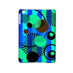 Blue Green Stripes Dots Apple iPad Mini 2 Hardshell Case