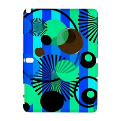 Blue Green Stripes Dots Samsung Galaxy Note 10 1 (p600) Hardshell Case