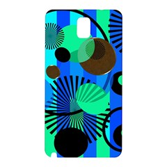 Blue Green Stripes Dots Samsung Galaxy Note 3 N9005 Hardshell Back Case