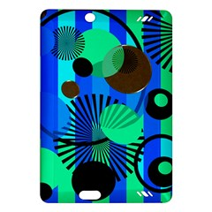 Blue Green Stripes Dots Kindle Fire Hd 7  (2nd Gen) Hardshell Case