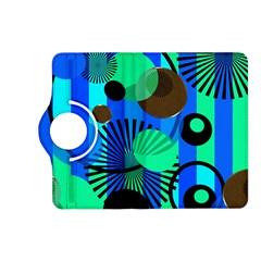 Blue Green Stripes Dots Kindle Fire Hd 7  (2nd Gen) Flip 360 Case