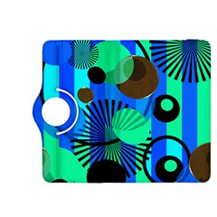 Blue Green Stripes Dots Kindle Fire HDX 8.9  Flip 360 Case