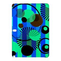Blue Green Stripes Dots Samsung Galaxy Tab Pro 12.2 Hardshell Case
