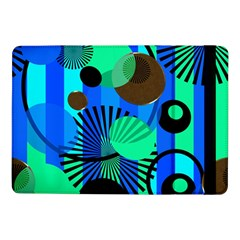 Blue Green Stripes Dots Samsung Galaxy Tab Pro 10 1  Flip Case