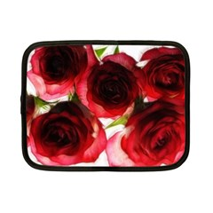 Pink And Red Roses On White Netbook Sleeve (small)
