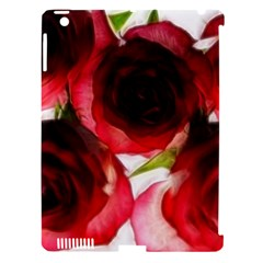 Pink And Red Roses On White Apple Ipad 3/4 Hardshell Case (compatible With Smart Cover)