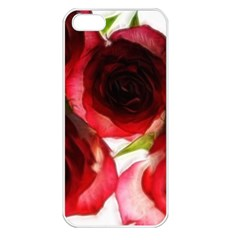 Pink And Red Roses On White Apple Iphone 5 Seamless Case (white)