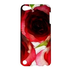 Pink And Red Roses On White Apple Ipod Touch 5 Hardshell Case
